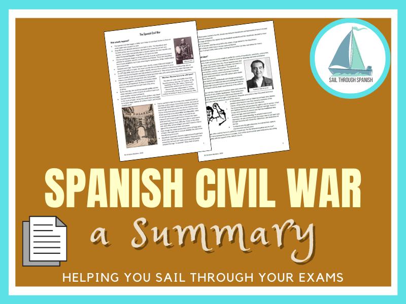 Spanish Civil War: A Summary for Spanish AS/A Level