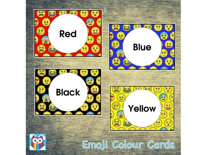 Emoji Colour Cards
