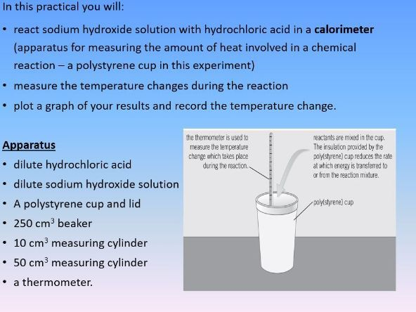 4.5.1.1  Exothermic and endothermic reactions required Practical 4