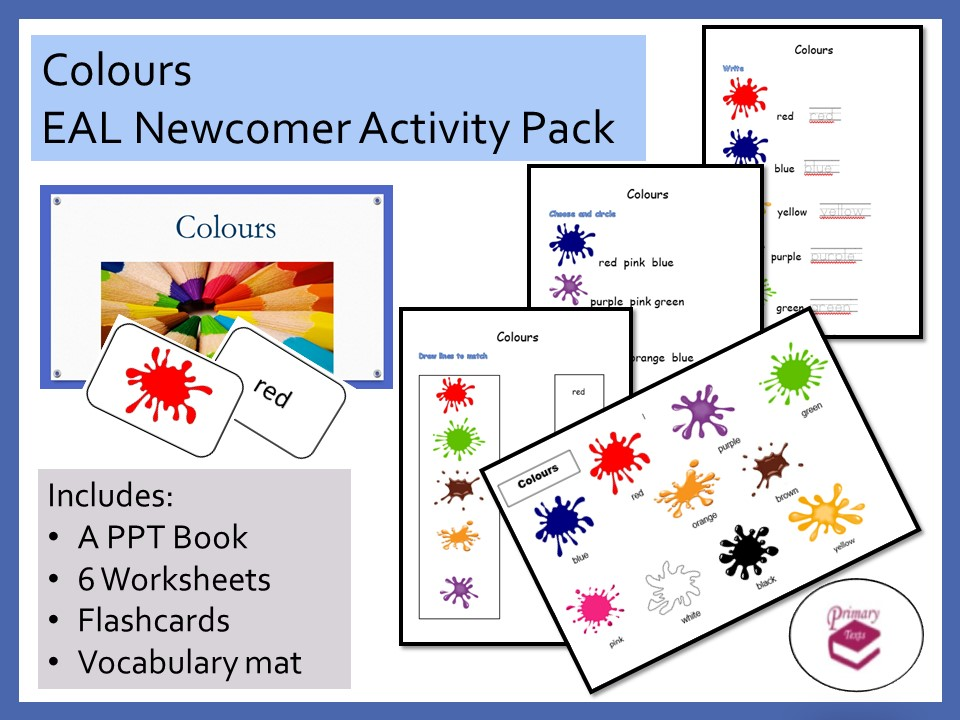 Colours EAL Newcomer Activity Pack