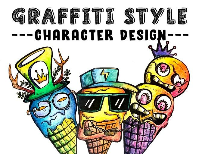 Graffiti Character Design [Distance learning possible]