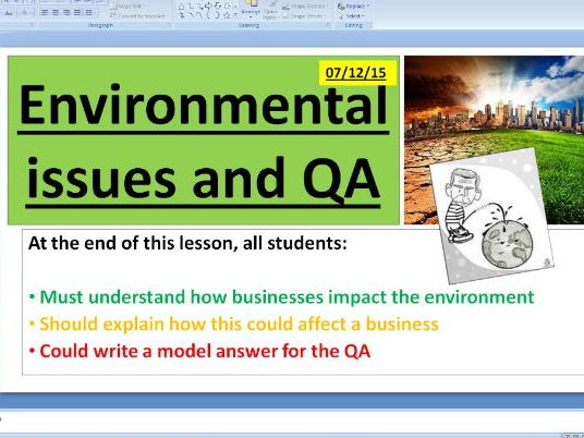 Environmental issues - GCSE Business