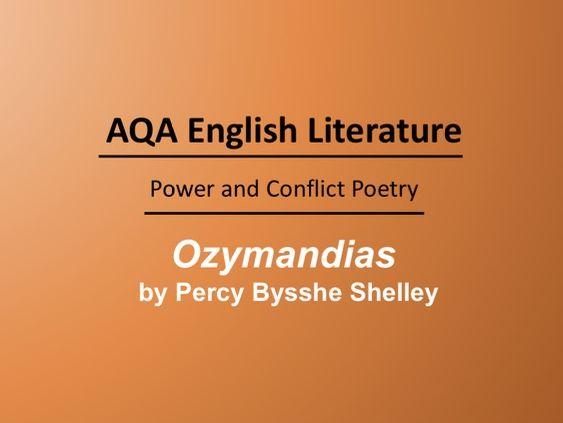 Ozymandias by Bysshe Shelley Lesson