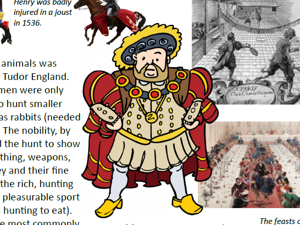 Henry VIII Tudor Activity & Resource Pack - worksheets/quiz/picture resources/fact sheets