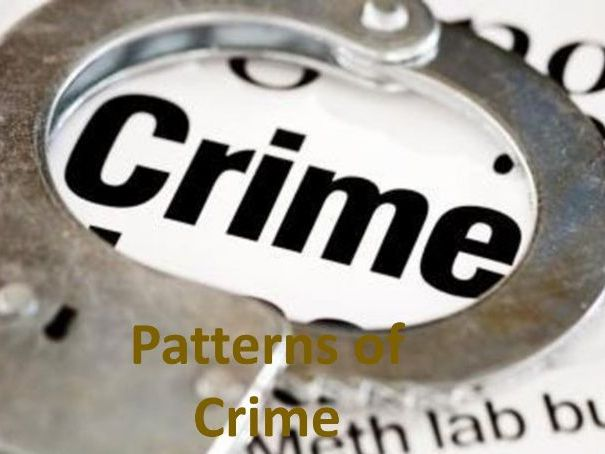 GCSE WJEC Sociology:  Crime and Deviance – Patterns of Crime