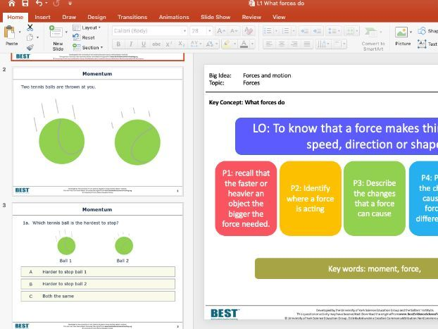 KS3 BEST - What forces do