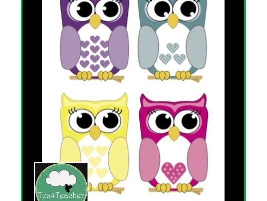 Cute Owl Clipart x6 Owls Birds