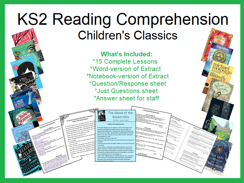 KS2 Reading and Comprehension: Literary Classics (15 Complete Lessons)
