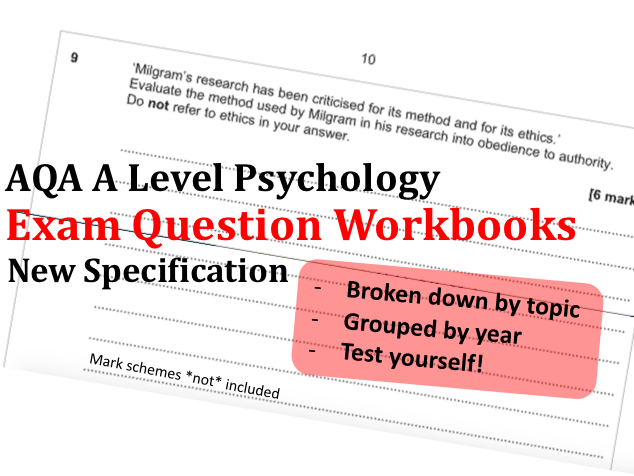 Practice Exam Question Workbooks | A Level Psychology Revision AQA New Spec