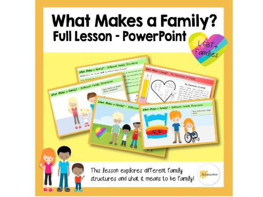 What Makes a Family? | Full Lesson | PPT | Download and Go! | KS2 | PSHE