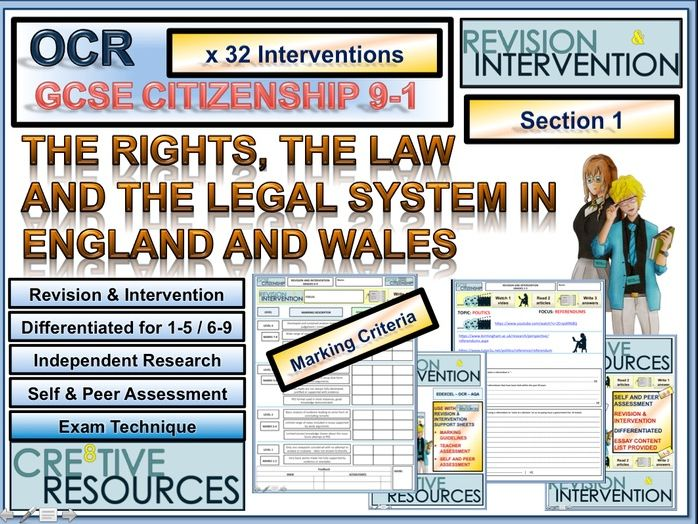 GCSE Citizenship 9-1 - Revision and Intervention - OCR - Section 1
