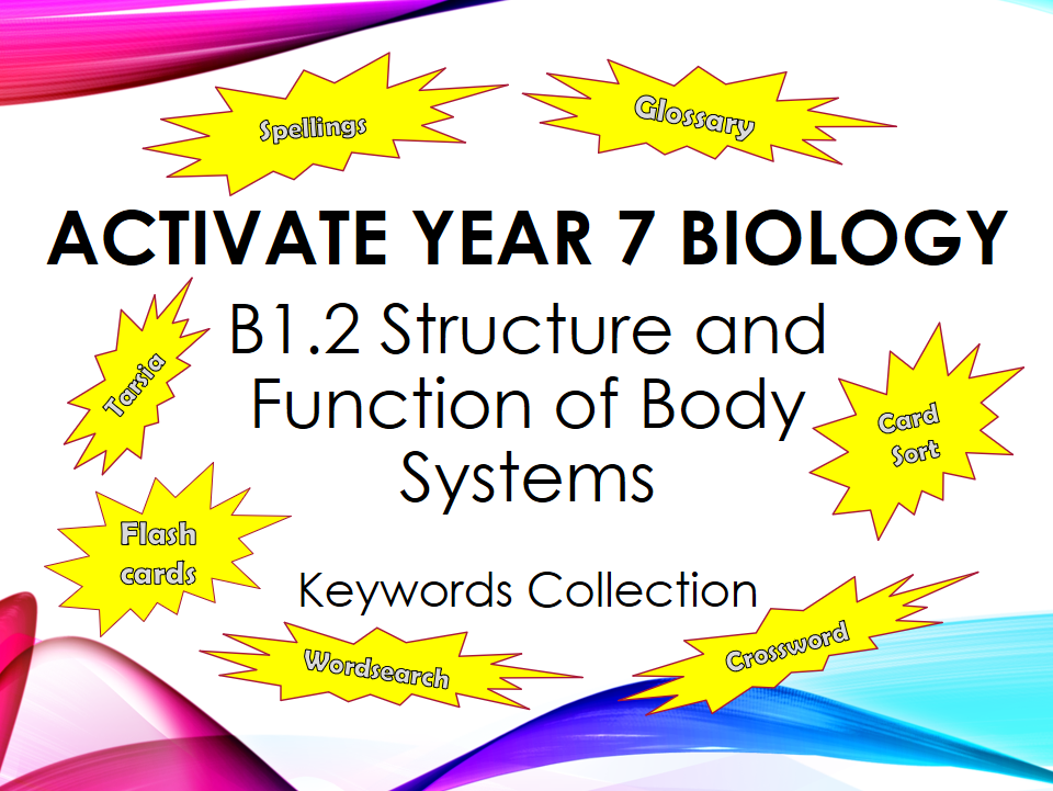 Activate Year 7 Biology - B1.2 Structure and Function of Body Systems - Keyword Collection