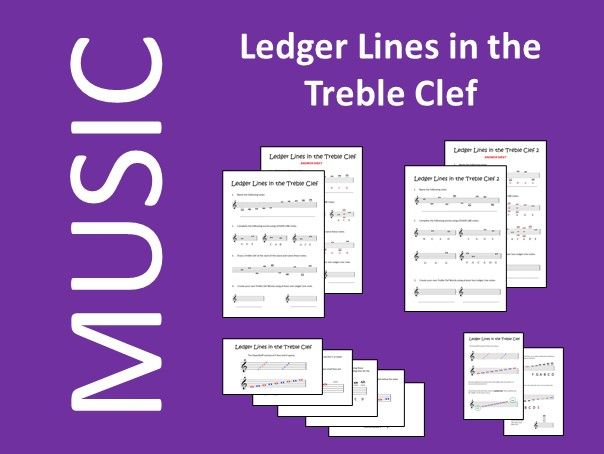 Music Ledger Lines in the Treble Clef