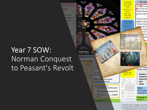 Year 7 SOW: Norman Conquest to Peasant's Revolt
