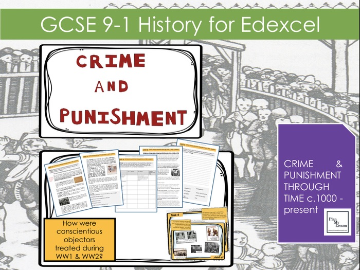 Edexcel GCSE 9-1  Crime and Punishment: L29 How were Conscientious Objectors treated in WW1 and WW2?