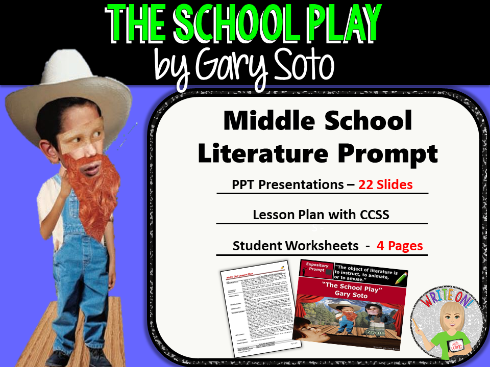 The School Play by Gary Soto - Text Dependent Analysis Expository Writing