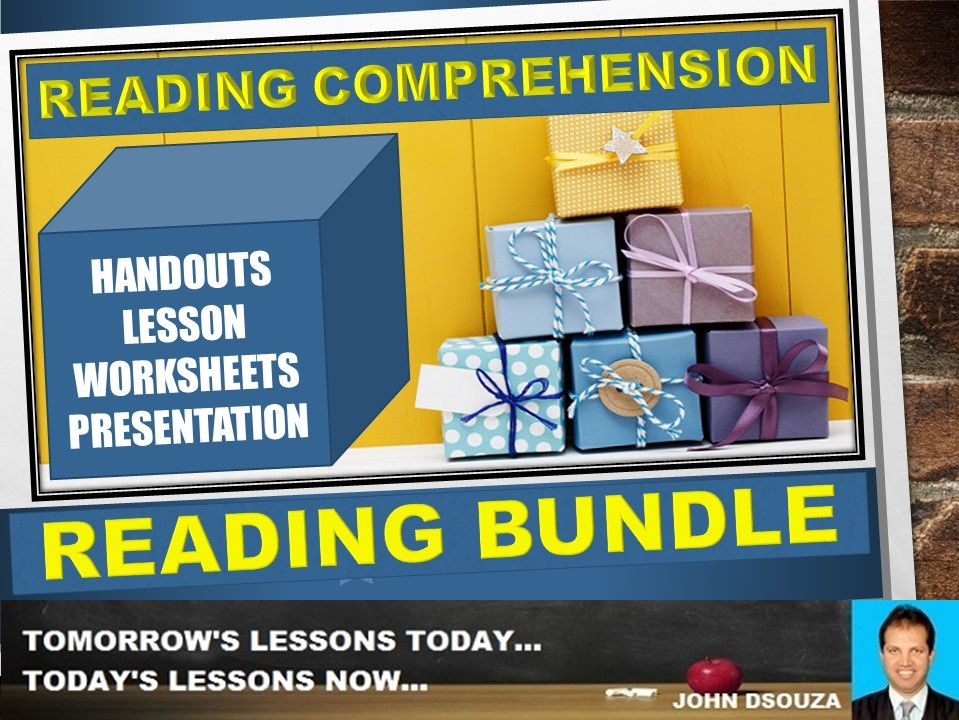 READING COMPREHENSION: BUNDLE