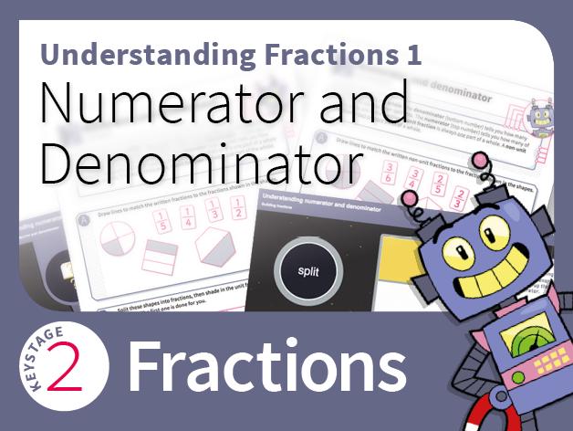 Understanding Fractions 1: Numerator and denominator