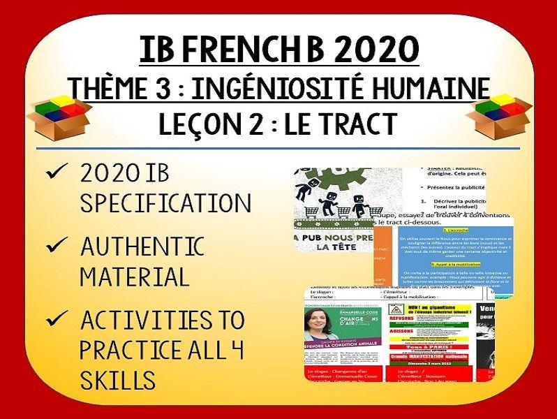 IB FRENCH B 2020 - Ingéniosité Humaine L2 - Le Tract