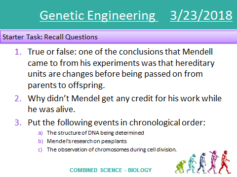 GCSE Genetic Engineering