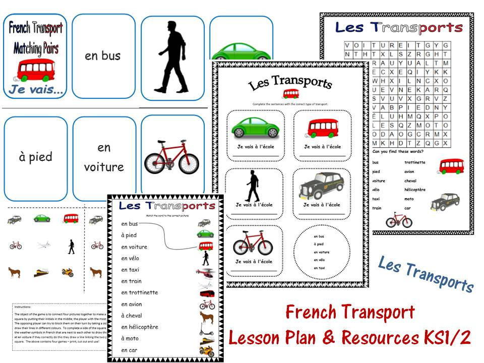 french transport lesson ks1 2 by mrspomme teaching resources. Black Bedroom Furniture Sets. Home Design Ideas