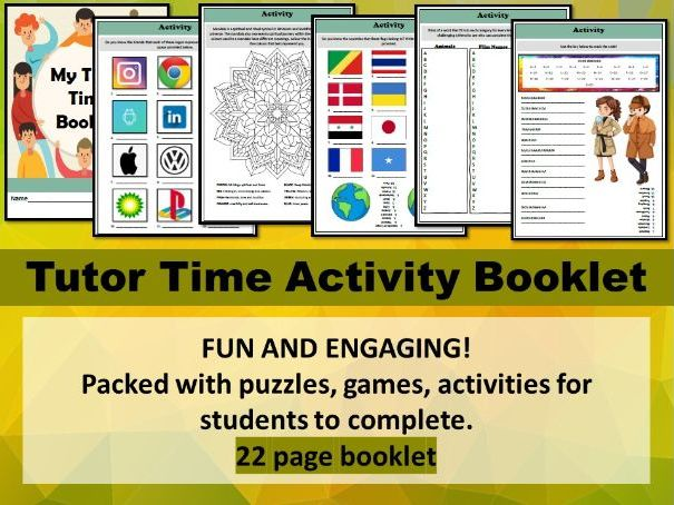 Tutor Time Activity Booklet - Home Learning
