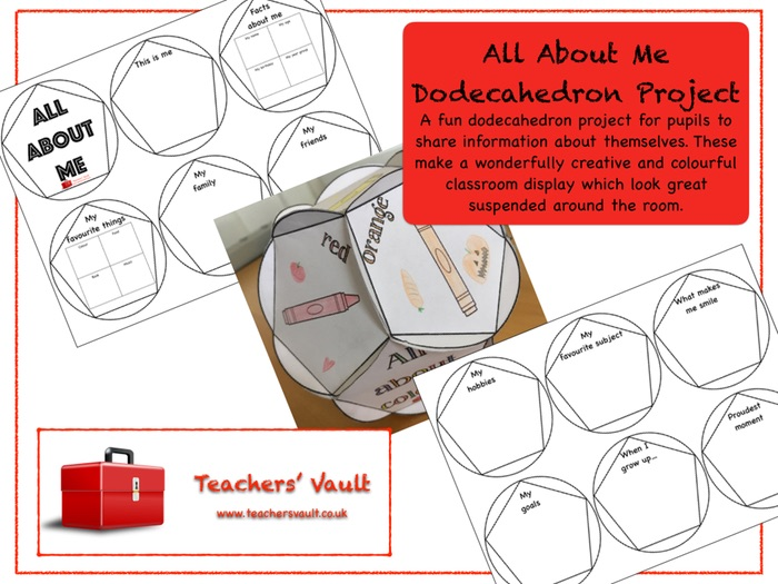 All About Me Dodecahedron Project