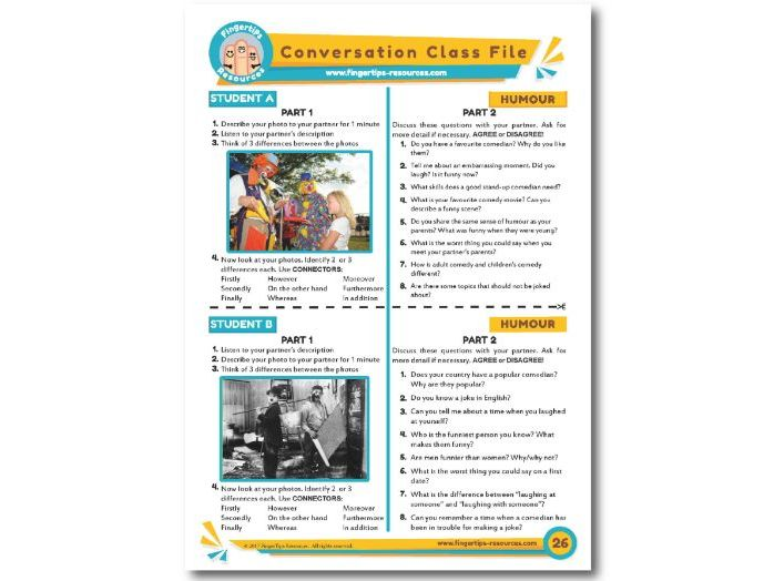 Humour - ESL Conversation Activity