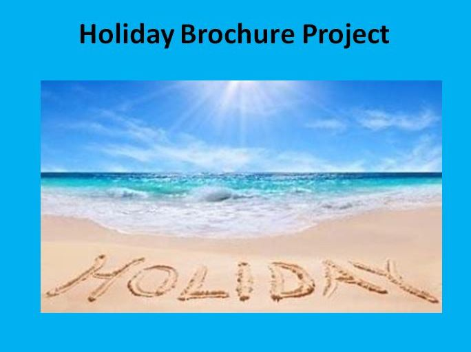 Holiday Brochure Project
