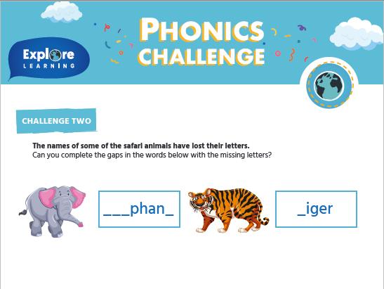 Free_Phonics challenge_Activity sheets