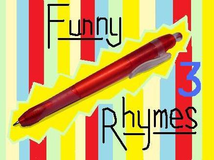 4 More Funny Rhymes (Sheet 3)