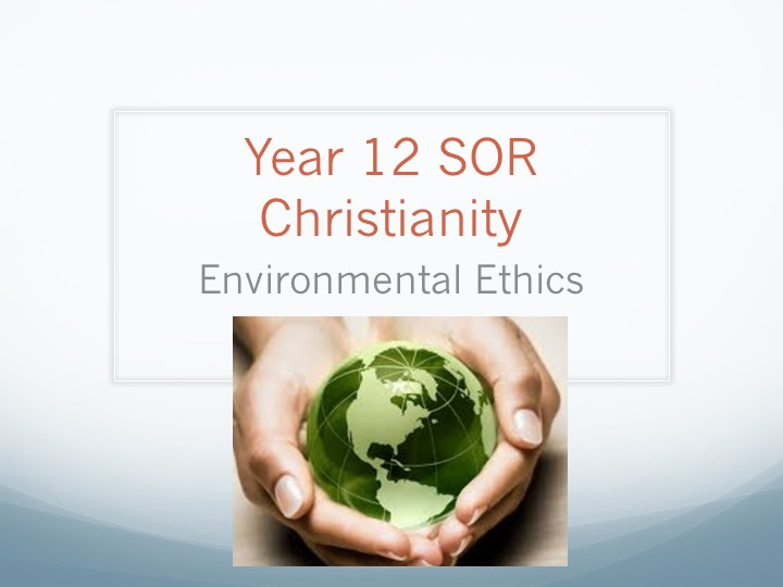 christianity environmental ethics essay Essay writing guide learn religious ethics are not the best approach to environmental this essay will examine the approach of christian ethics to.