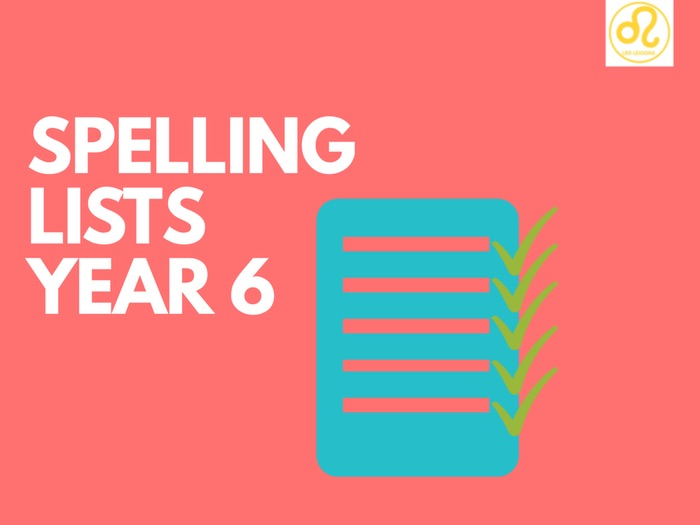 Spelling Lists Year 6