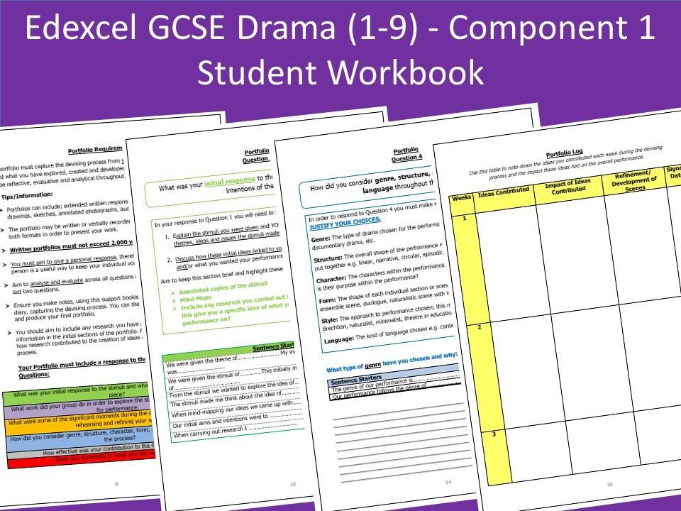 Edexcel GCSE Drama Component 1 - Portfolio Support/Log