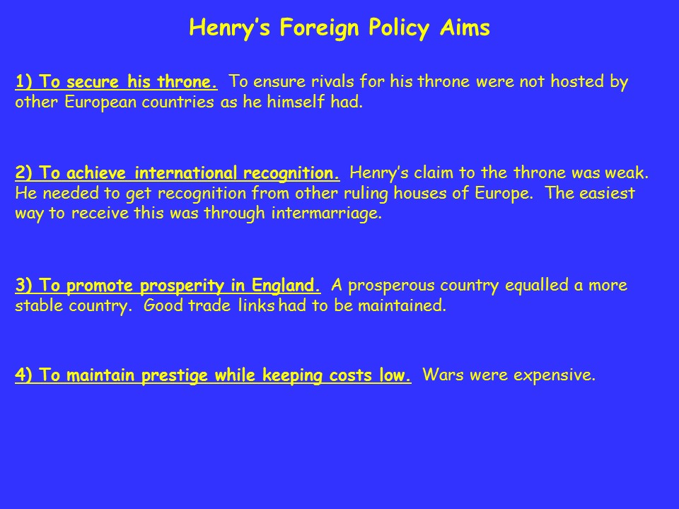 Henry VII's Foreign Policy The Tudors A-level PowerPoint (AQA, OCR)