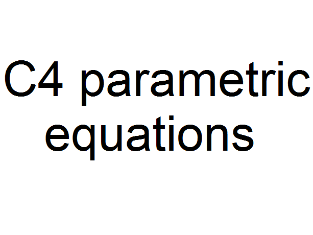 C4 parametric equations