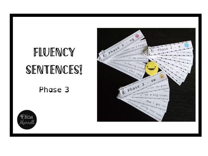 Phonics - Phase 3 - Fluency Sentence Strips