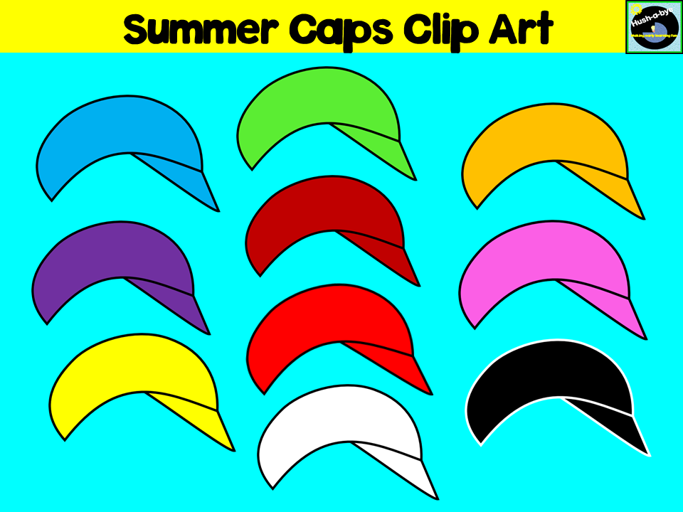 Summer Caps Clip Art