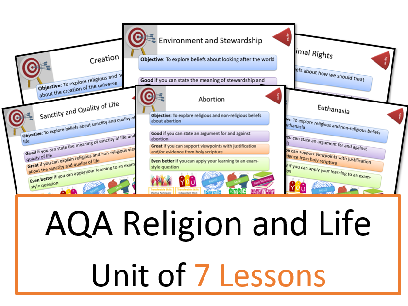 AQA: Themes: Religion and Life - Whole Unit of Lessons