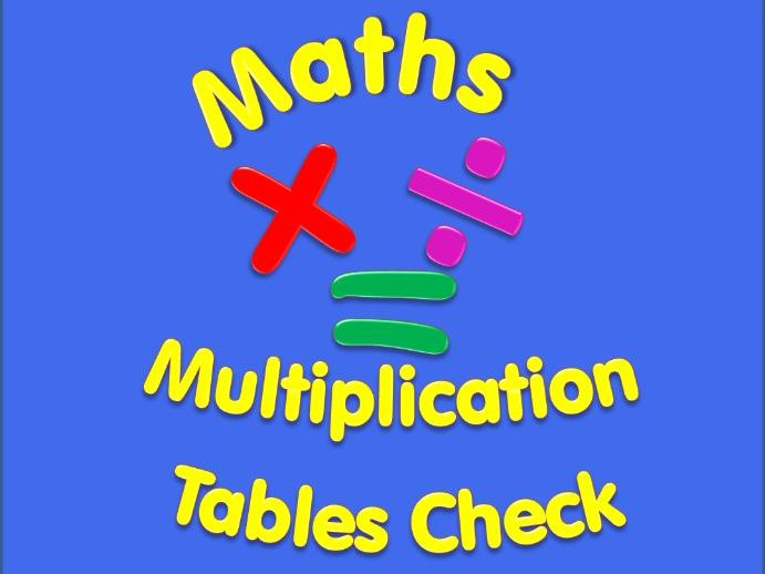 Year 4 Multiplication Tables Check