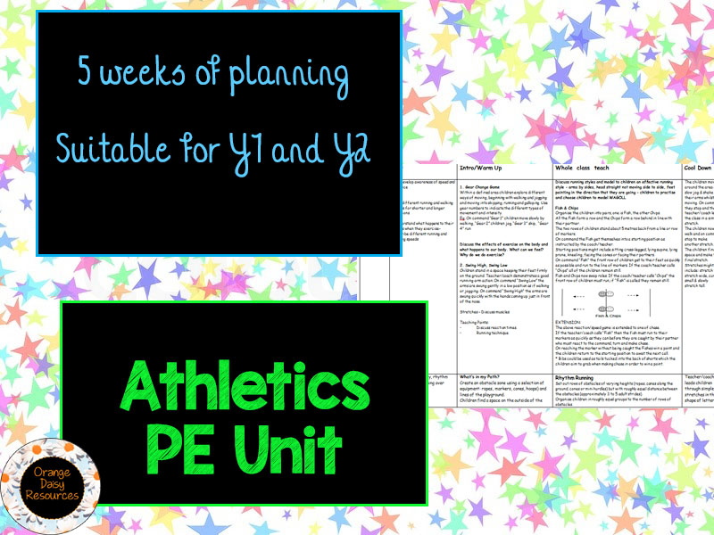Athletics Planning for KS1 (5 weeks)