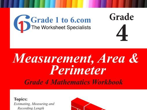 Measurement: Area & Perimeter Grade 4 Maths Workbook from www.Grade1to6.com Books