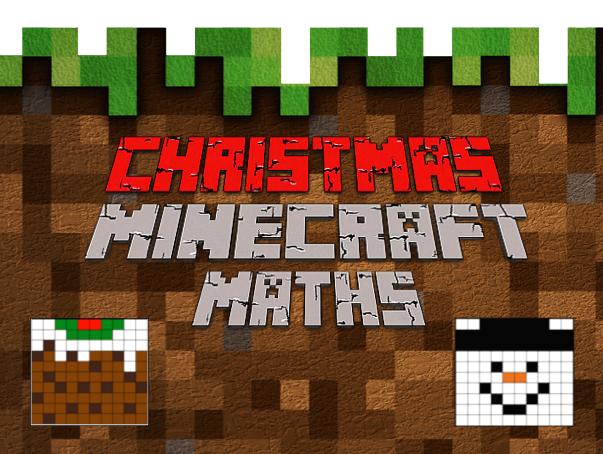 Christmas Minecraft Maths: Area, Perimeter, Volume, Decimals and Percentages