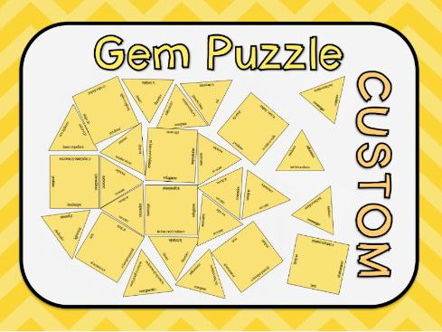 Gem Vocabulary Puzzle Template