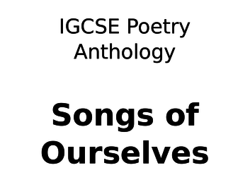Coming - CIE Poetry Anthology English Literature Podcast