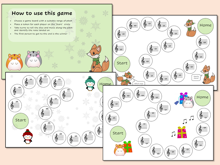 Treble Clef Christmas Note Recognition Game
