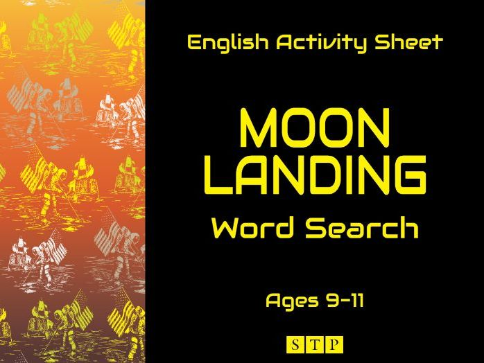 Moon Landing Word Search Activity Sheet