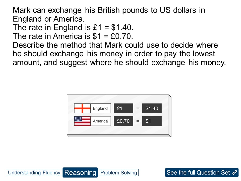 KS3 Ratio: Direct Proportion Using Currency