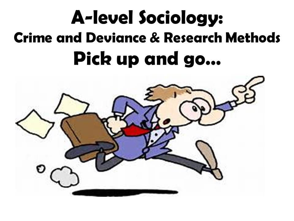 A-level Sociology (OCR): Pick up and go...