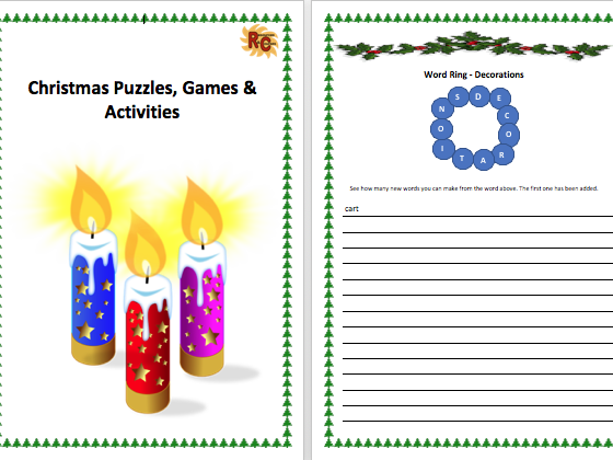 Christmas Puzzles, Games & Activities ebook 2017 Bundle